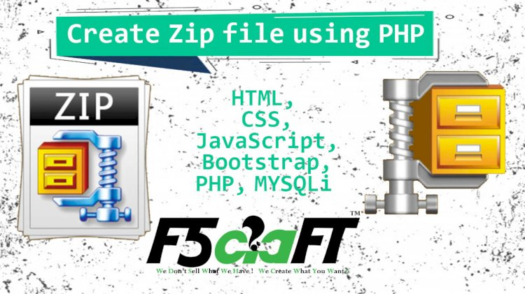 How to create zip file using PHP