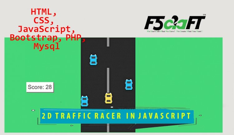 2D TRAFFIC RACER GAME IN JQUERY WITH SOURCE CODE